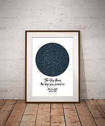 Birthday Sky Chart A4 Star Chart Print Star Map Personalised Map Of The Stars Perfect Gift For Weddings Births New Baby Birthday Anniversary Engagement