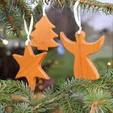 3er Set Baumschmuck Aus Holz Weihnachtsdeko Kaufen