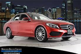 Seat belts can be red, black, or silver. Mercedes C Class Red