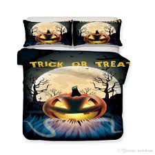 blue toile duvet cover queen plan happy pumpkin pattern printed bedding sets all sizes