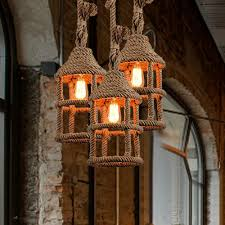 Us 650 50 Offwicker Loft Eisen Seil Droplight Edison Vintage Anhänger Leuchten Für Esszimmer Bar Hängelampe Hause Beleuchtung In Pendelleuchten