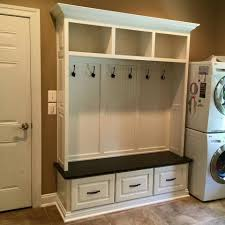 Built In Mudroom Maple Mudroom Bench Built In With White Lacquer And Stained Solid