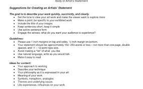 Work Statement Examples Luxury Artist Statement Template Best Sample Excellent