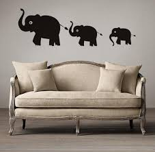Small Picture Three Cartoon Elephant Wall Decals Vinyl Stickers Home Decor