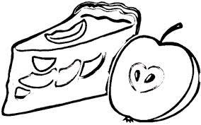 apple pie clip art black white. Apple Pie Coloring Page For Clip Art Black White