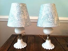 vintage milk glass lamp antique hobnail milk glass lamps