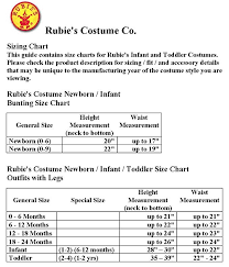 Rubies Costume Size Chart Baby Chili Pepper Costume