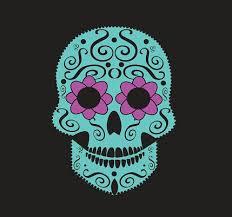 Lebka Vektorový Pozadí Pro Módní Design Vzory Tetování Premium