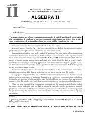 Note that diagrams are not necessarily drawn to scale. Algebra Ii Common Core January 2018 Regents Exam Pdf Algebra Ii The University Of The State Of New York Regents High School Examination Algebra Ii Course Hero