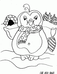 Cute Penguin Printable Coloring Page For Kids Kids Printable