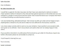 Cover Letter Examples For Sales Associate Cover Letter For Sales Associate Conorfloyd Info