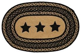 braided jute rug farmhouse star stencil star braided jute rug oval southwestern area rugs by maui