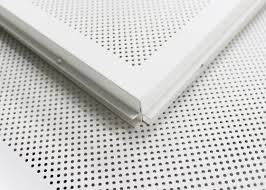 white perforated lay in ceiling tiles 2 x 2 metal ceiling tiles for train station
