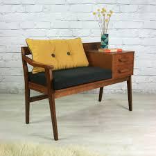 Vintage Teak 1960s Telephone Seat  Telephone Teak And 1960sTelephone Bench Seat