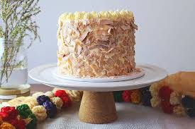 Caramel And Coconut Layer Cake Blossom And Pearl Cake Design
