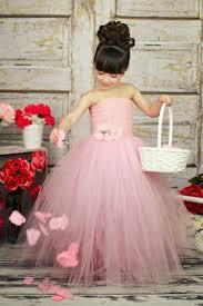 pink tulle flower girl dress with crochet top full jpg