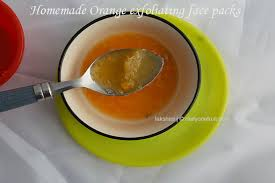 instant exfoliating homemade orange face scrub and pack
