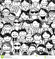 People Pattern Best Seamless Pattern With People Crowd For Your Design Illustration