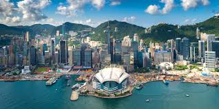 wanchai skyline immortalised in graham uden s visual feast above hong kong island by
