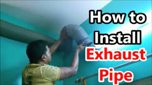 Exhaust Chimney Design How To Install Extra Flexible Exhaust Pipe To A Kitchen Chimney