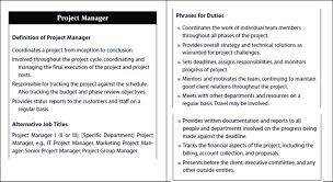 Project Manager Duties Project Manager Job Description Martin C 2010