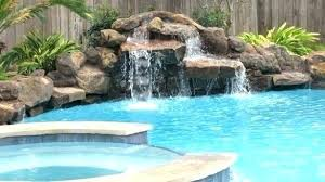 inground pool waterfalls. Inground Pool Waterfalls S Rock Waterfall Kits Swimming Fountains And Cost