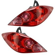 2008 Nissan Versa Brake Light Bulb Amazon Com Rear Brake Light Taillight Lamp Pair Set Of 2