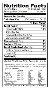 cheez it white cheddar cheese baked snack ers nutrition facts