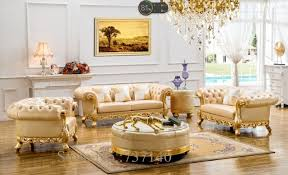 Sectional Sofa Leather European Style Solid Wood Carving Antique  Buying Agent64