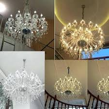 crystal candle chandelier modern chandeliers lights led style multi tier pendants stand