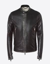 rockstud untitled leather biker jacket