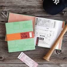 ticket stub diary to preserve your memories