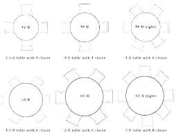 round table size for 6 8 foot round table seating rectangular seats how many standard tablecloth round table size