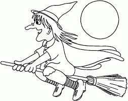 Small Picture Printable Halloween Coloring Pages Witch Kids Coloring