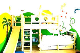 Bunk bed with slide and desk Unicorn What Playsquare Toddler Bed With Slide Bunk Beds Slides Kids Add On Size Wood Loft