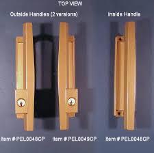 top view of pella patio door handle