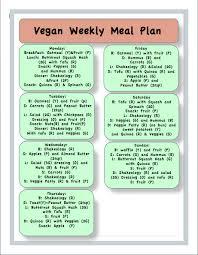 Weekly Meal Plan Best Vegan Meal Plan Vegan Meal Prep Pinte