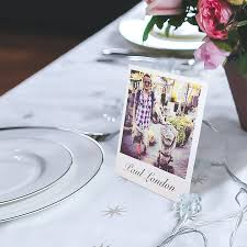 personalised stand up place setting photo cards place card holders