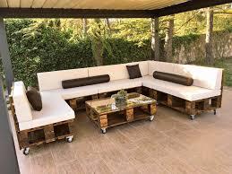 ... handmade modern pallet poolside sofa set