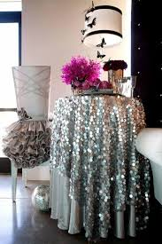 72 round 18mm silver big sequin tablecloth for wedding party events cocktail table decoration