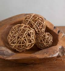 Large Decorative Wicker Balls
