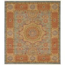 unique loom palace light blue 10 ft x 11 ft square rug