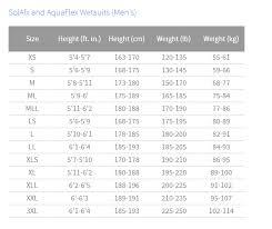 Aqualung Fins Size Chart Aqua Lung Solafx Mens 8 7mm Hooded Wetsuit