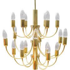 vintage brass hollywood regency chandelier 1960s