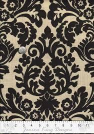 Small Picture Damask Fabric by the Yard Waverly Essence Onyx Harmonics Modern