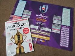 Details About Rugby World Cup Japan 2019 Preview Magazine Guide Free Wall Chart