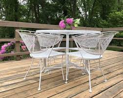 salterini wrought iron furniture. sale mid century modern outdoor table and chairs salterini style wrought iron furniture t