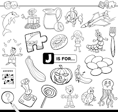 Select from 35478 printable coloring pages of cartoons, animals, nature, bible and many more. Letter J Educational Task Coloring Book Page Download Free Vectors Clipart Graphics Vector Art