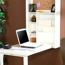 decoration wall mounted writing desk white wood computer design with stationery shelves and file cabinet