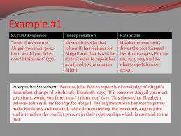 The Crucible Act 2 Character Chart Interpretive Statements Ppt Download